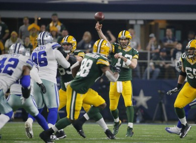 Aaron Rodgers produced an unbelievable throw just when it mattered most last night.