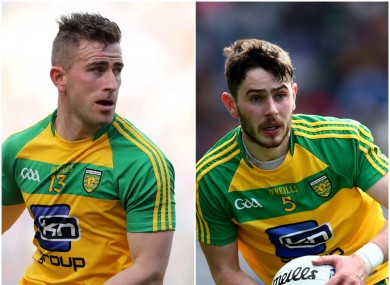 Donegal stars Paddy McBrearty and Ryan McHugh
