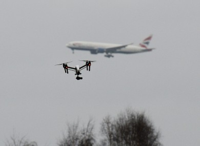 flying drone near airport