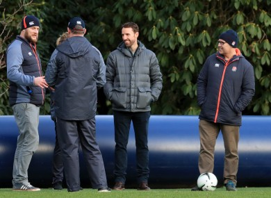 England football manager Gareth Southgate watches the training session at Pennyhill Park, Bagshot.