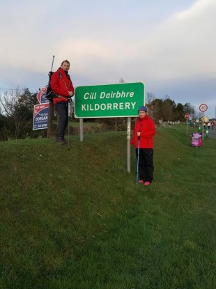 Vera Twomey on her walk with TD Gino Kenny.