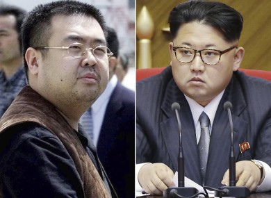 Kim Jong Nam, left, and his half-brother North Korea's leader Kim Jong Un, right.