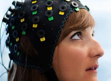 A model wearing the technology.