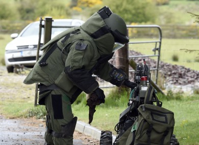 File photo of Army Bomb Disposal Team