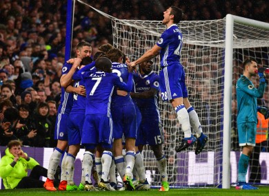 Chelsea are currently 10 points clear at the top of the Premier League.
