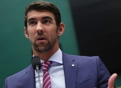 American Olympic great Michael Phelps was speaking to a congressional hearing.