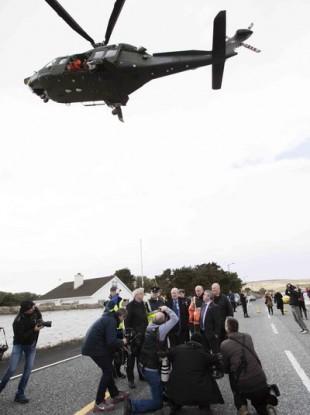 Emergency service activity at Blacksod bay.