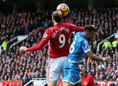 Ibrahimovic and Mings clashed during Saturday's match at Old Trafford.
