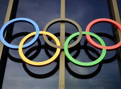 The Olympic rings at IOC headquarters