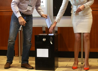 Votes being cast at the Citizens Assembly today