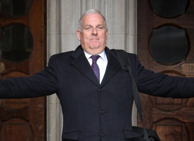 Kelvin MacKenzie leaves the High Court after giving evidence to the Leveson enquiry in 2012.