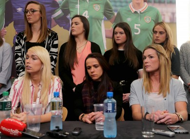 The players at Tuesday's press conference