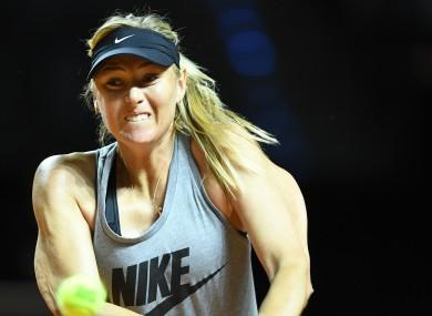 Maria Sharapova returns to professional tennis today.