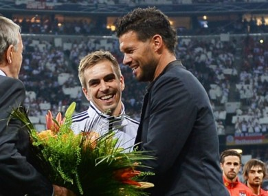 Michael Ballack and Philipp Lahm previously played together in German team.