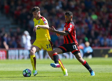 Long playing against Bournemouth last weekend.