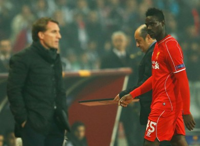 Brendan Rodgers and Mario Balotelli.