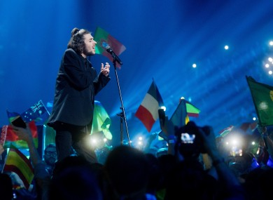 The winner of the 62nd ESC, Salvador Sobral from Portugal sings his winning song