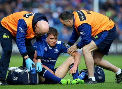 Ringrose receives treatment during Friday's Pro12 semi-final.