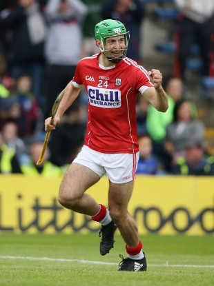 Michael Cahalane celebrates his late goal for Cork.