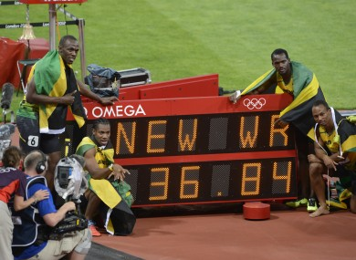 The Jamaican men's team hold the world record for 4x100 metre relay, which they set in 2012.