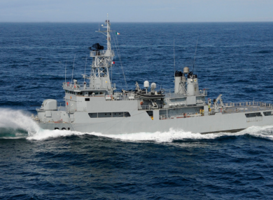The Lé Eithne was previously deployed to the Mediterranean in 2015.