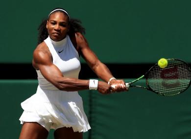Serena Williams in action at Wimbledon.