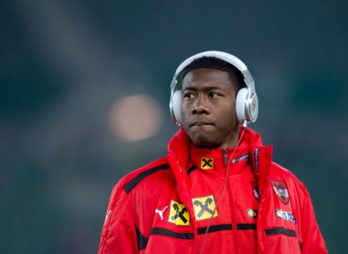David Alaba will be hoping to inspire Austria to victory against Ireland tonight.