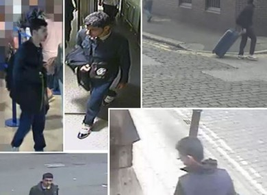 CCTV footage before the attack