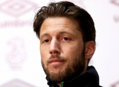 Harry Arter pictured at today's press conference.