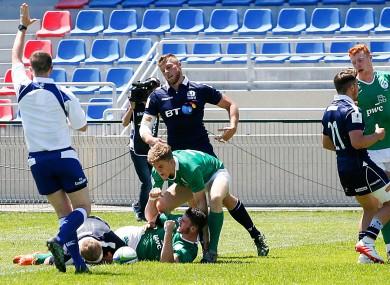 Jack Kelly scored twice but it wasn't enough for Ireland.