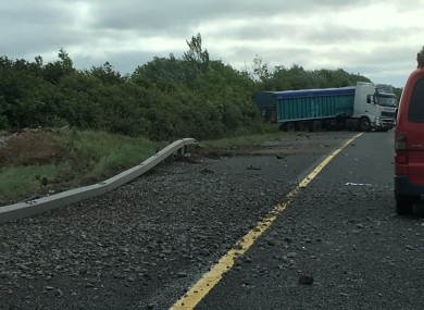 Truck driver dies following crash on M1 this morning · TheJournal ie
