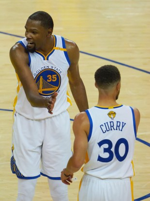 Durant and Curry combined for more than 60 points.