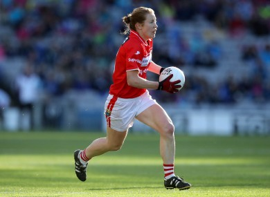 Rena Buckley in action for Cork in last year's All-Ireland final against Dublin.