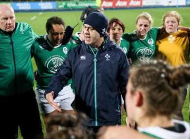 Ireland head coach Tom Tierney.