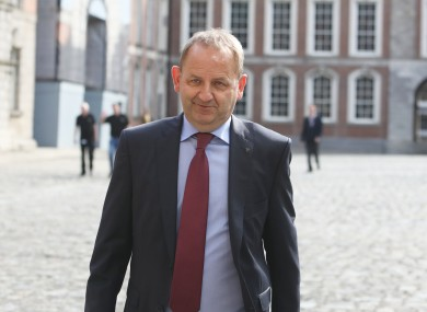 Garda whistleblower Sergeant Maurice McCabe arriving on the fourth day of public hearing at the Disclosures Tribunal in Dublin Castle.