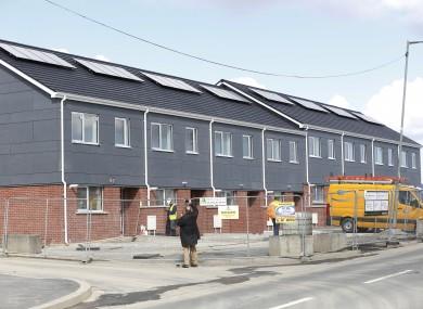 Modular homes in the Ballymun area.