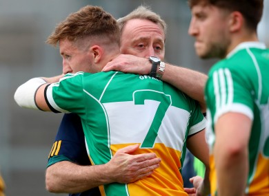 Offaly manager Pat Flanagan after their qualifier loss to Cavan.