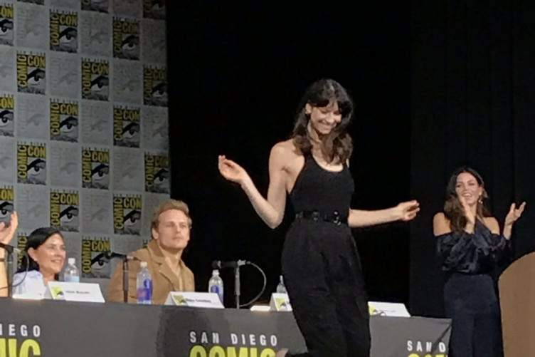 Irish actress Caitriona Balfe did a full on jig in front of