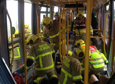 Dublin Fire Brigade simulating a mass casualty event.