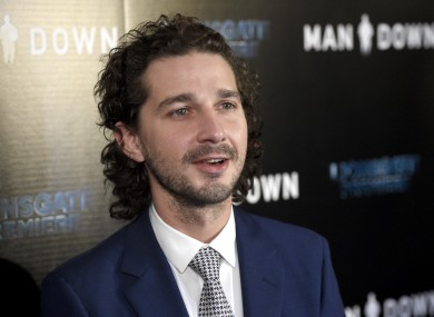 Shia LaBeouf arrives at the Los Angeles premiere of 'Man Down' at ArcLight Cinemas Hollywood.