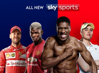 Sky's new line-up will see channels dedicated to specific sports.
