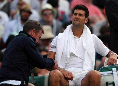 Down and out: Djokovic's campaign ended in disappointing fashion.
