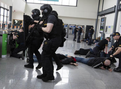 Gardaí in Dublin simulated a terror attack last month. Rural officers say there are no resources to protect them.