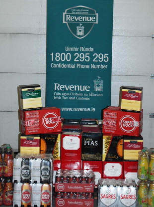 This alcohol was seized at Dublin Port.