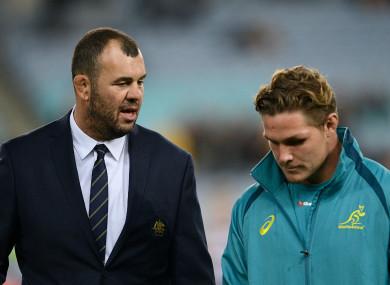Australia coach Michael Cheika and captain Michael Hooper.