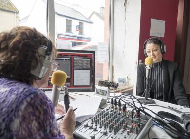 Volunteers hosting a show on Kinvara FM