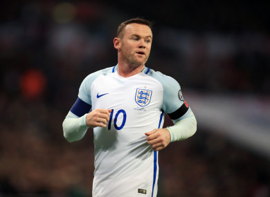 Rooney lining out for England last year.