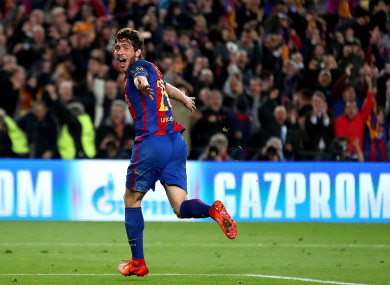 Barcelona's Sergi Roberto is being linked with Man United.