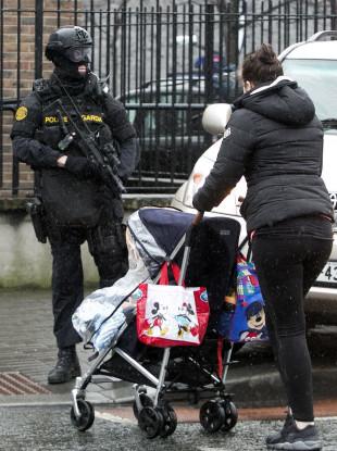 File photo of an armed garda in Dublin