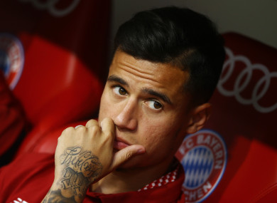 Philippe Coutinho of Liverpool (file pic).